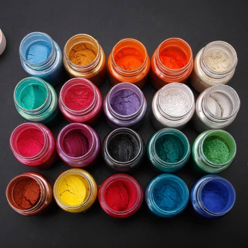 A group of different colored liquid